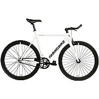 FabricBike- Bicicleta Fixed, Fixie, Single Speed, Cuadro y Horquilla Aluminio, Ruedas