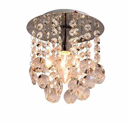 moderne 1 Stück-Kristall-Deckenlampe, einfacher Kristallleuchter für Verbindungsgang, stilvoller Kristallleuchter für Korridor