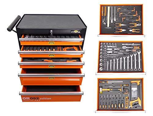 Werkstattwagen gefüllt mit Werkzeugkasten Werkzeugkiste Werkzeug Werkzeugwagen
