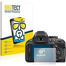 BROTECT AirGlass Protector Pantalla Cristal Flexible Transparente para Nikon D5200 Protector Cristal Vidrio - Extra-Duro, Ultra-Ligero, Ultra-Claro