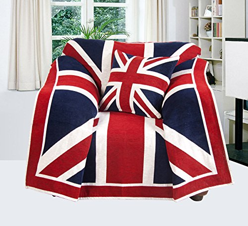EHC Union Jack, Sofa, Stuhl, Tagesdecke, 125 x 150 cm. (Union Sofa Jack)
