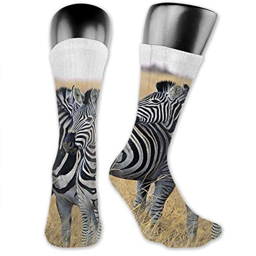 Zebras On South Africa Safari Unisex Casual Mannschaftssocken Daily Sports Socks Hiking Socks