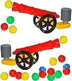 Unbekannt Set _ 2 Stück - XL Ballkanone / Kanone - incl. 10 Bälle & Hammer - wasserfest - für INNEN & AUßEN - z.B. für Bällepool / Ball / Bällebad - Bad - Spielzeugbäll..