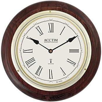 Deluxe Wooden Radio Controlled Seiko Wall Clock Amazon Co
