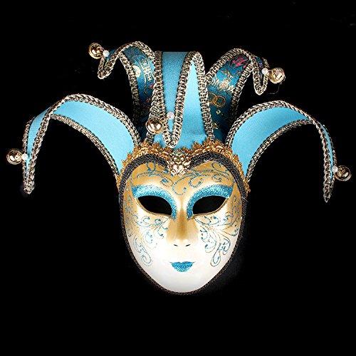 K&C Handgemalte Halloween Masquerade Venedig Party Lace Maske Hellblau