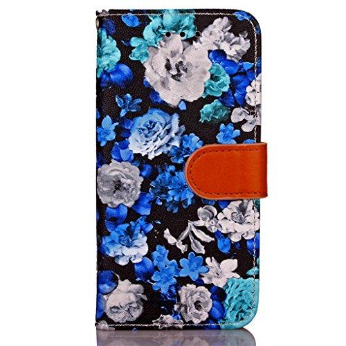 """Trumpshop Smartphone Case Coque Housse Etui de Protection pour Apple iPhone 7 Plus 5.5"""" (Série Rose) + Bleu Rouge Blanc + Ultra Mince Smarphonetcoque Portefeuille PU Cuir Avec Fonction Support Anti-Ch Bleu, Vert, Blanc"""