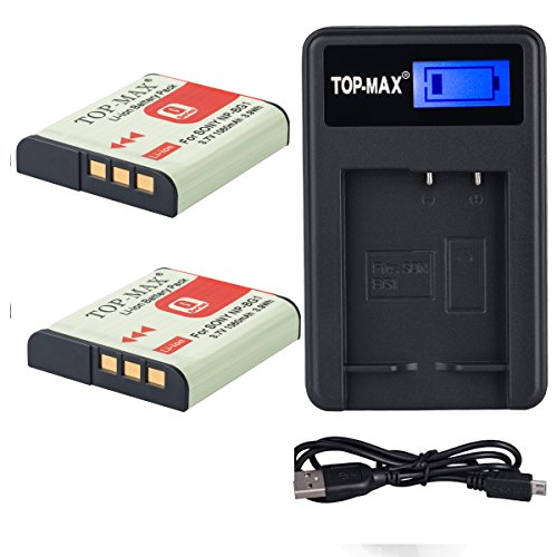 top-maxr-2x-np-bg1-battery-usb-charger-for-sony-cyber-shot-dsc-h3-dsc-h7-dsc-h9-dsc-h10-dsc-h20-dsc-