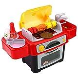 Peradix Jeux Ustensiles de Cuisson Cuisine Dinette Enfant Jeu D'imitation Miniature Accessoires (BBQ-24PCS)