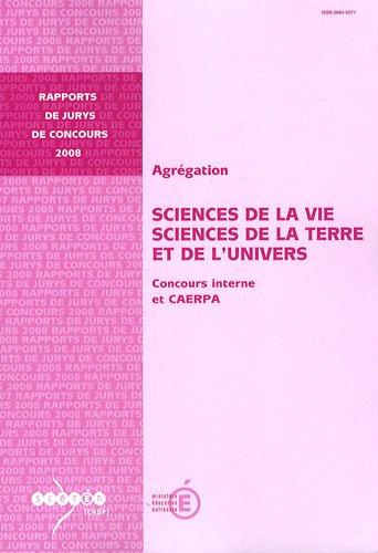 Agrégation Sciences de la Vie, Sciences de la Terre et de l'Univers : Concours interne et CAERPA