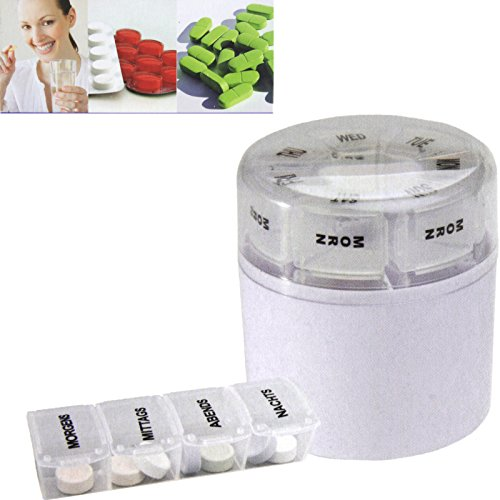 7 Tage Pillenbox Tabletten Organizer Tablettenbox Pillen Box (Tag Pille 7)