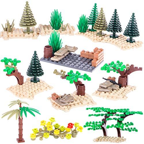 BOROK Mini Custom Battle Szene Militär Zubehör Set Armee Minifiguren Soldaten SWAT Bausteine Spielzeug Waffenzubehör Toys