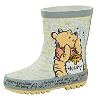 Disney Winnie The Pooh Childrens Rubber Wellington Boots Kids 3D Rain Snow Shoes Size