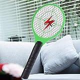 FairytaleMM Swatter Elettrico della zanzara Elettrico a Pile della Racchetta di Tennis elettrica Tenuta in Mano Multifunzionale del Cerchio, consegnato a Caso
