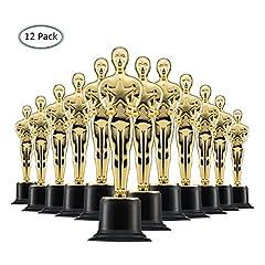 Idea Regalo - Prextex Trofei in Oro da 6'' (Pacco da 12) da Vincitore in Oro per Cerimonie e Feste