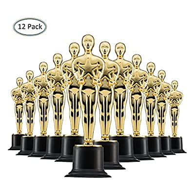 Trofeos de Oro de 15cm (Pack de 12) para Ceremonias y Fiestas