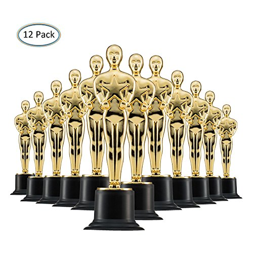 Prextex Trofei in Oro da 6'' (Pacco da 12) da Vincitore in Oro per Cerimonie e Feste