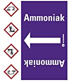 LEMAX® Rohrleitungsband Ammoniak, praxisbewährt, ab Ø 50mm, violett/weiß, 33m/Rolle