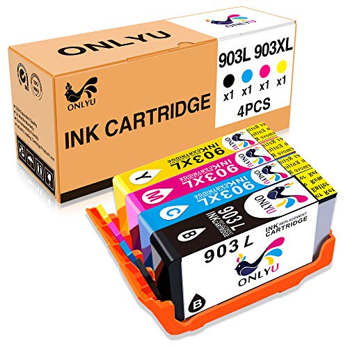 Cartucho de Tinta 903 903XL Alto Capacidad Compatible con HP OfficeJet 6950 6960 6970 6975 All-in-One Impresoras 1-Conjunto (1Negro 1Cian 1Magenta 1Amarillo)