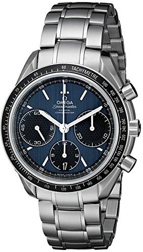 Omega Speedmaster Racing / orologio uomo / quadrante blu / cassa e bracciale acciaio