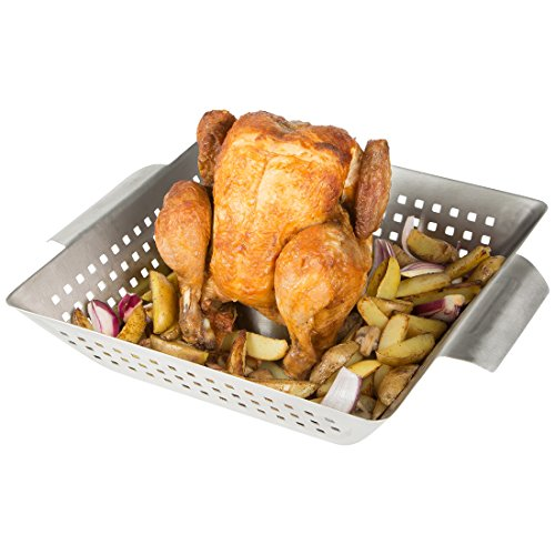 Bruzzzler Cuocipollo Grill per Pollo arrosto Acciaio Inox
