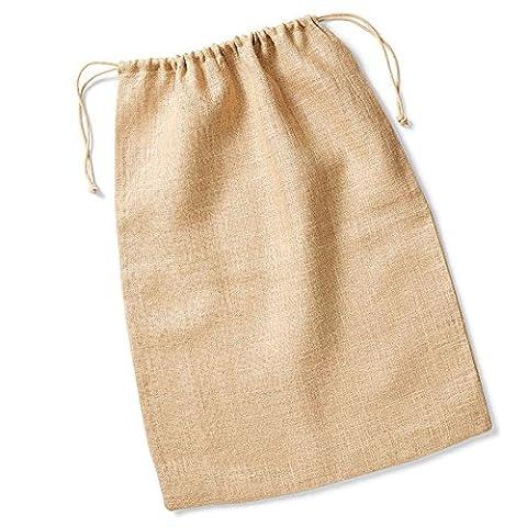 Westford Mill Jute Stuff Bag Rope Double Drawcord Closure 100%