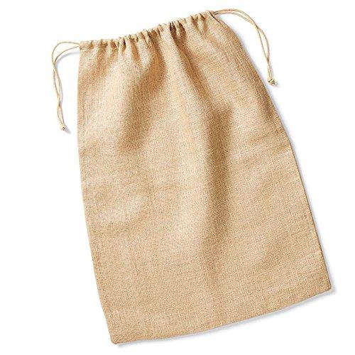 Westford Mill Jute Stuff Tasche Seil Doppelt Kordelzug Verschluss 100% Jute, Jute, natur, M -