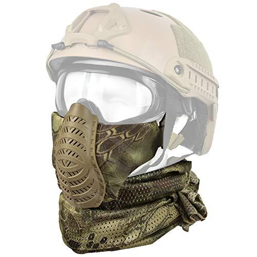 QMFIVE máscara táctica Media Cara Bufanda Airsoft