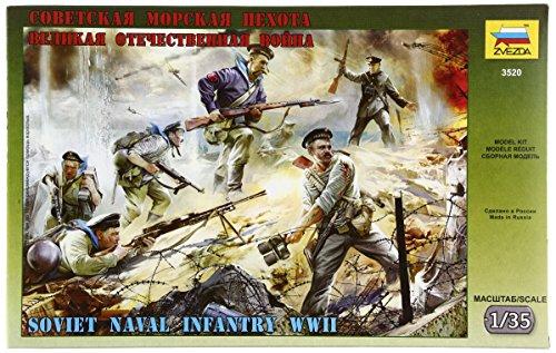 Zvezda 500783520 - 1:35 WWII Figuren-Set Russische Marine Infanterie Preisvergleich