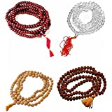 Joseph India Sandalwood Scented,Red Sandalwood Scented, Crystal & Rudraksha Mala