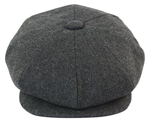 King Ice Béret homme tweed casquette style vendeur de journeaux Peaky  Blinders grand père à 8 435c4a0dc955