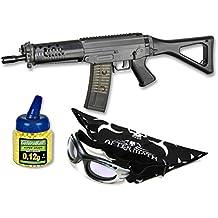 Pack Rifle Airsoft SIG 552 COMMANDO. Calibre 6mm. Potencia 0,7 Julios + Gafas antivaho + Biberon 1000 bolas