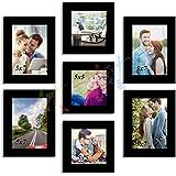 "Art Street Dynamic Set Of 7 Individual Wall Photo Frames Size (4- 5x7"" , 3 - 5x5"") Black"