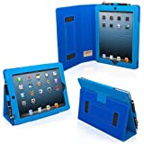 TheSnugg B008X1BZ1G Dossier Bleu étui pour tablette - étuis pour tablette (Dossier, Bleu, Faux cuir, Apple, iPad 4, Résistant à la poussière, Résistant aux rayures)