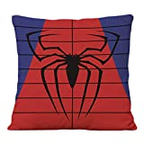 Cityeas Super Hero Housse de Coussin carrée Marvel Comics Captain America Iron Man Spider-Man Linen 43 x 43 cm Spider