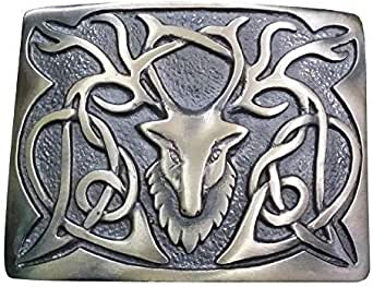New Scottish Kilt Belt Buckle Stag Head Antique Finish/Highland Belt Buckle Stag