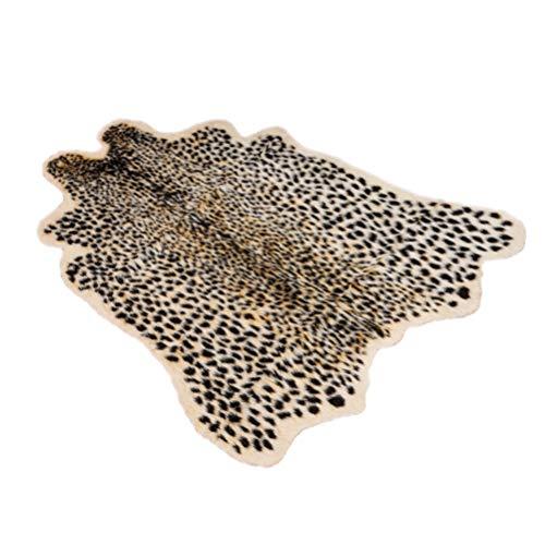BESTOYARD Leopard Teppich für Wohnzimmer Schlafzimmer Kinderzimmer Esszimmer Größe M -