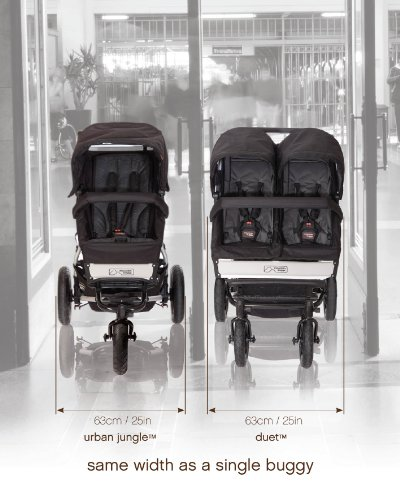 Mountain Buggy Evolution Duet Flint inkl. Regenschutz - 11