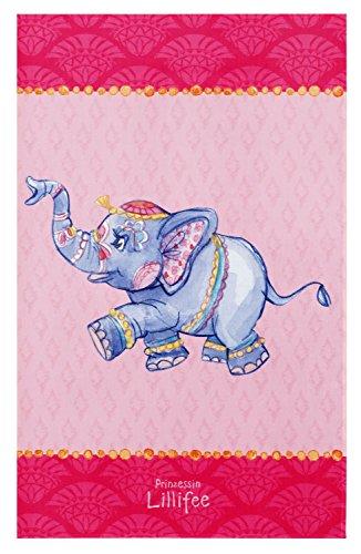 Prinzessin Lillifee Kinderteppich Weich und Soft für Mädchen, Elefant, Größe 100x160 cm, Farbe Pink, Öko-Tex zertifiziert für Kinderzimmer und Babyzimmer