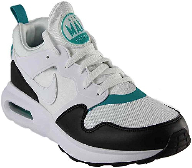 NIKE Men's Air Max Prime Running Shoe White/White Turbo Green Black 9.5