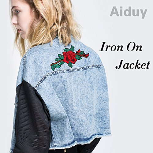 Iron on patches, Aiduy Embroidered patches Diy Sew On or Iron On