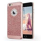 Imikoko iPhone 6/6S Hülle (4,7 Zoll), Luxus Hardcase Glitzer Schutzhülle Bling Hardcase Strass Hart Hülle Handyhülle Etui Case Für iPhone 6/6S (4.7