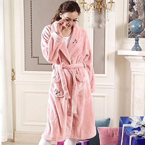 Bathrobe ZLR Autumn Winter Season New Section Lady Sleep Robe Thickening Warm Pajamas Home Clothes