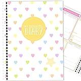 My Thoughtful Diary (12 meses) hecho a mano, diario de seguimiento del estado de ánimo, perseguidor del estado de ánimo, A5 (Rainbow Hearts)