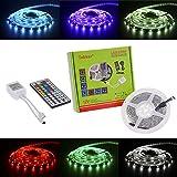 Tabker 5m 5050 led strip 150 leds SMD rgb Farbe led stripes mit fernbedienung LED Strip Licht Streifen + 44 Key Fernbedienung-