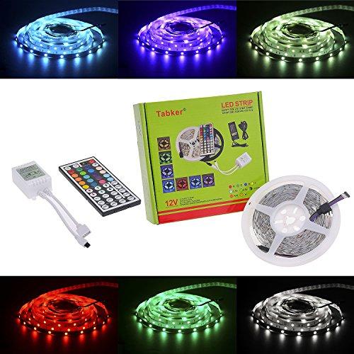 Tabker® 5m 5050 led strip 150 leds SMD rgb Farbe led stripes mit fernbedienung LED Strip Licht Streifen + 44 Key Fernbedienung-