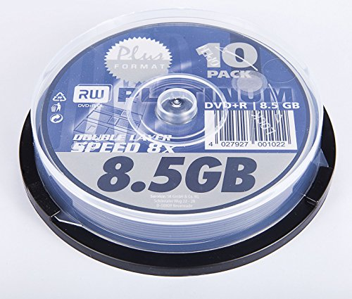 Platinum DVD+R Double Layer 8,5GB 8x 10er Spindel DVD-Rohlinge