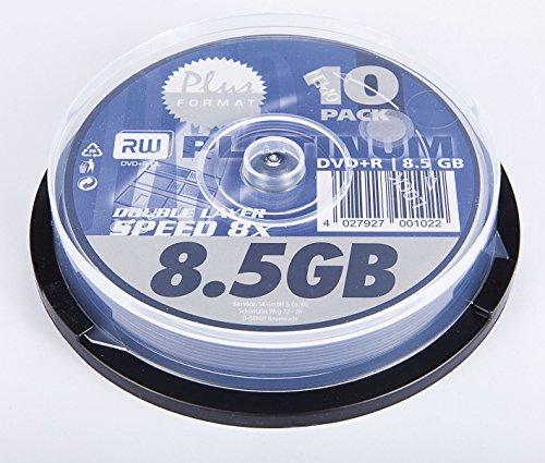 dvd 8gb Platinum DVD+R Double Layer 8,5GB 8x 10er Spindel DVD-Rohlinge