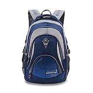 Wewod Fashion school sac à dos cartable sac à dos pour garçon de 10-13 ans 28 * 43 * 12 cm (Bleu)