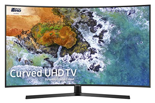 Samsung UE65NU7500 65-Inch Curved Dynamic Crystal Colour 4K Ultra HD Certified HDR Smart TV - Charcoal Black (2018 Model) [Energy Class A+]