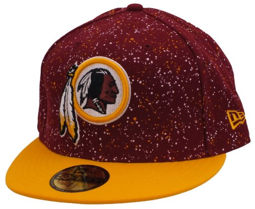 New Era Washington Red Skins Basecap Speckle Paint Red / Yellow - 7 - 56cm